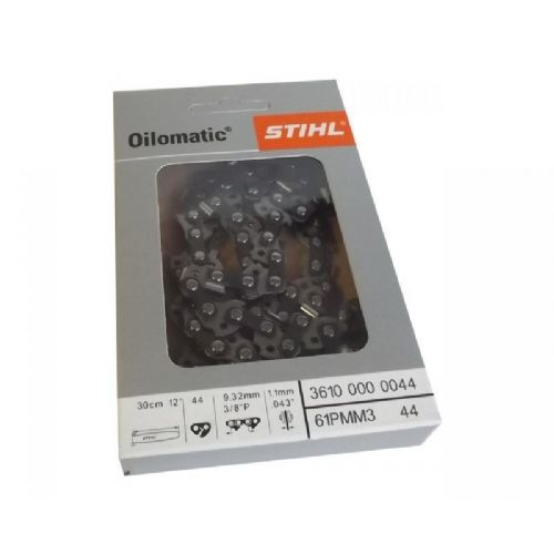 "Genuine Stihl Chain  3/8 1.1 44 Link  12"" BAR  Product Code 3610 000 0044"